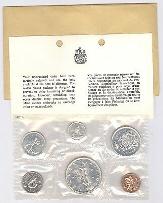 1966 Canadian Uncirculated Mint Set ~ 6 Coin Set !!