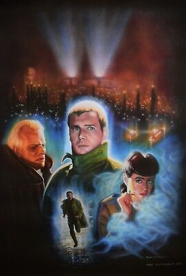 Blade Runner original large canvas giclee print by Mike Winterbauer