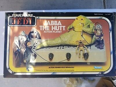 Vintage Kenner Star Wars ROTJ Jabba The Hutt action playset complete with box!!
