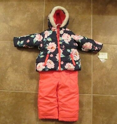NEW Carter's Baby Toddler Girls 2 Piece Snowsuit Size 12 or 24 Months Jacket