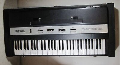 Vintage 1970's Univox EP-210 61 Key Electric Piano Keyboard Italy Parts/Repair