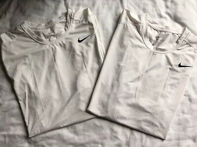 Mens NIKE DriFit White Tshirts, XXL Fitted, Lot Of 2 Short Sleeve