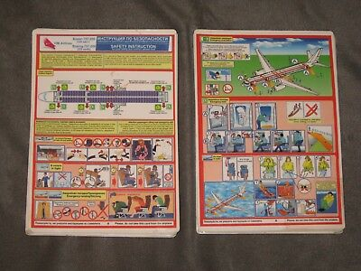 10 Vim Airlines  B-757-200 220 Seats Safety Card
