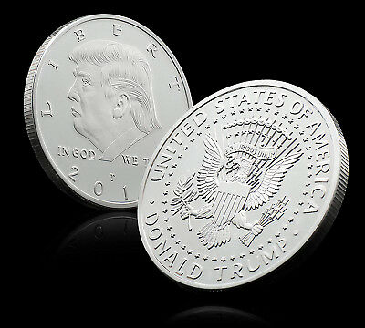 2018 Donald Trump 45th President Silver Plated Coin Collectible Commemorative