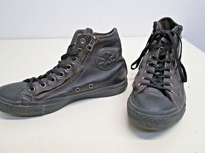 111c0bdd21 Leather Converse All Stars Chuck Taylor sz 7 US Men Brown double zippers  140002C