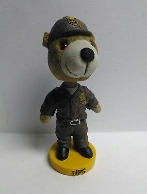 UPS United Parcel Service Delivery Brown Bear Resin Bobble Head Free Shipping