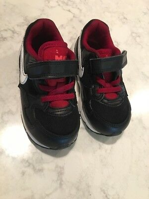 a8552716a3744 TODDLER NIKE AIR Downshifter 7 Red Black Running Shoes 869974-600 ...