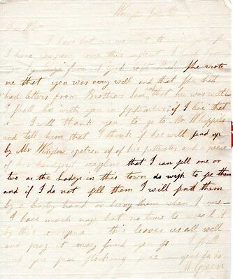 1797, Mary Green, Worcester, Mass., letter to William, student at Prov. College