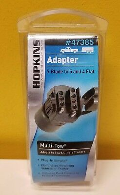 Hopkins 47385 Wiring Adapter 7 Blade to 5 and 4 Flat Multi-Tow. New in packaging