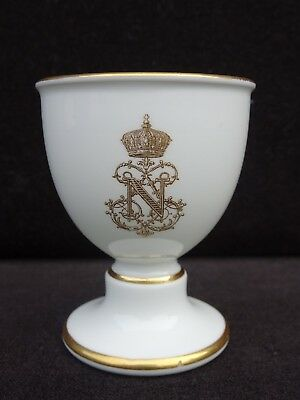 19Th C. Sevres France Napoleon Iii Armorial Footed Egg Cup ~ Rare ~ Listing #1