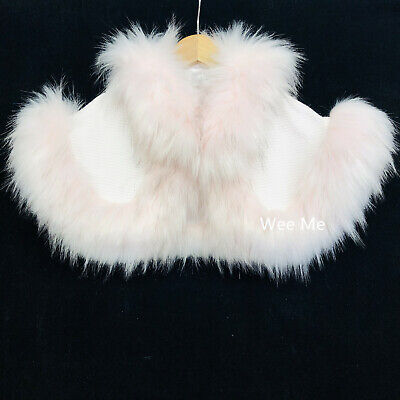 Beautiful Baby Girl Spanish Fur Cape/Faux Fur Trim and Collar/Cozy Winter