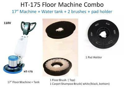 Industrial Floor Machine Polisher (1 Tank + 2 Brushes + 1 Pad Holder ) HT175