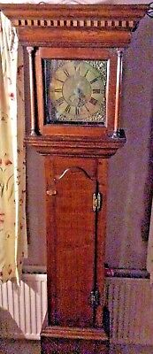 GEORGE III GRANDFATHER / LONG CASE CLOCK English oak with  brass dial 1730 c