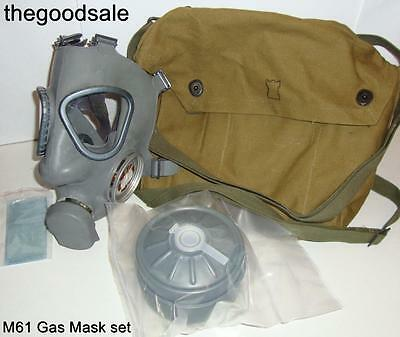 FINNISH M61 Gas Mask & 60 mm NBC Filter with Carry Bag Set  (New/Old Stock)