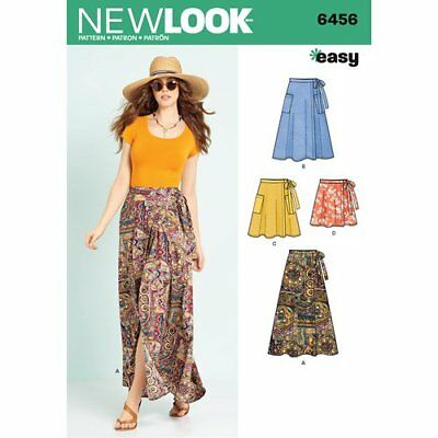 New Look Sewing Pattern 6456 Misses 6-18 Easy Wrap Skirts in 4 Lengths