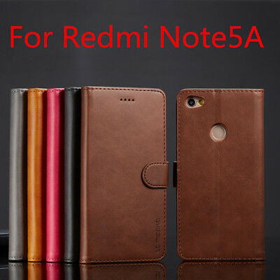 Fashion Genuine Leather Flip Wallet Card Slot Phone Case Cover For Xiaomi Redmi