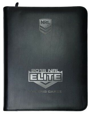 2018 Nrl Elite Album With Full Base Set - 160 Trading Cards - Includes Box Cards