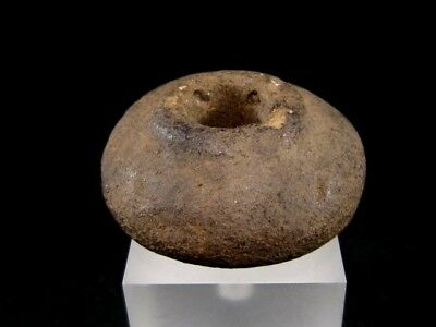 Rare Neolithic, Prehistoric, Large Clay Spindle Whorl+++3000-2000 B.c.e.