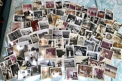 HUGE LOT of 130 Vintage SNAPSHOTS Photos OLD PHOTOGRAPHS 1940s-1950s-1960s Orig