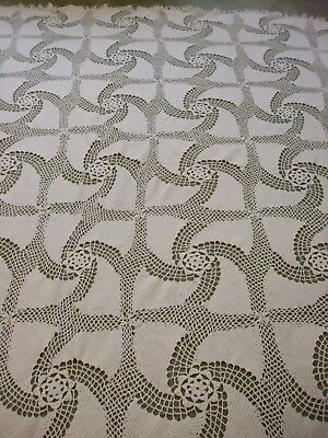 Vintage Hand Crocheted Bedspread/Tablecloth