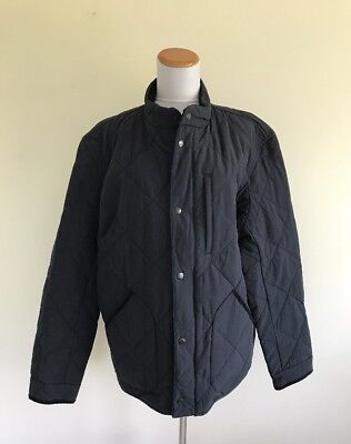 NEW $198 JCrew Men XL Sussex Quilted Jacket Obsidian Navy Blue G8556 Extra Large