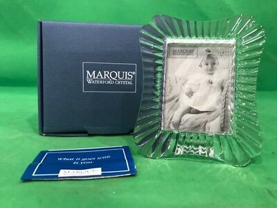 """Waterford Crystal Marquis Easton 2 3/8"""" X 3 1/4"""" Frame New In Box (Ss2025860)"""