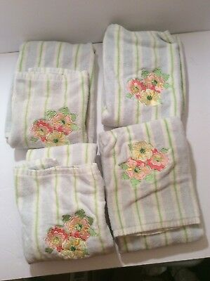 Longaberger Mixed Bouquet Embroidered hand towels 4