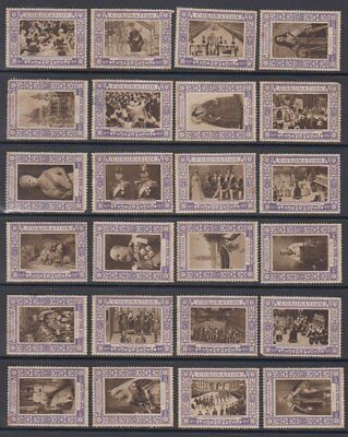 1937 Selection Of 47 Different George Vi Coronation Cinderella Stamps (Jd6179)