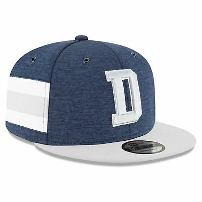 best service 10965 8e773 Dallas Cowboys Hat New Era Official Sideline Home NFL 2018 9FIFTY Snapback  Blue
