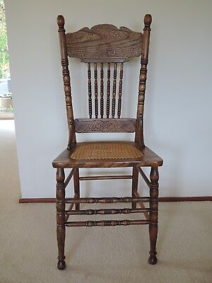 Spindelback chairs with renovated cane seats x 4