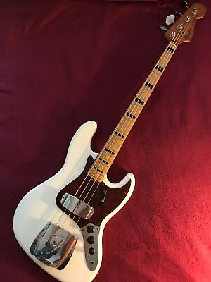 1971 1972  Fender Jazz Bass Olympic White Refin