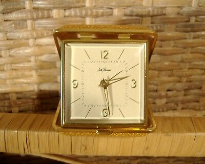Seth Thomas Travel Alarm Clock Germany Vintage Works, Needs Adjustment