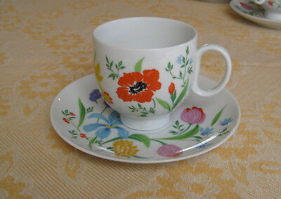 Heinrich Germany Primavera Pattern; footed cup and saucer set