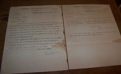 1903 2 New York National Guard 3Rd Battalion Co D Letter Oswego Ny 48Th