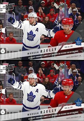 2x 18-19 TOPPS NOW MORGAN RIELLY 10.11.18 Topps NHL Skate Digital Card