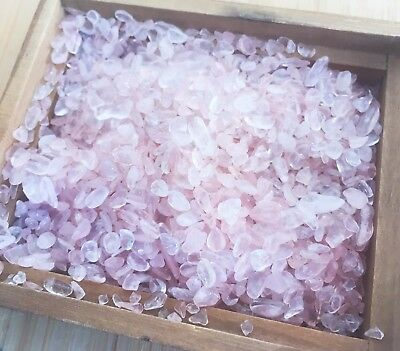 Tumbled Gemstone Crystal Chipstone Natural Rose Quartz 5g Extra Tiny