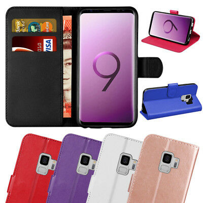 Luxury Genuine Real Leather Flip Case Wallet Cover for Samsung Galaxy S7 S8 S9