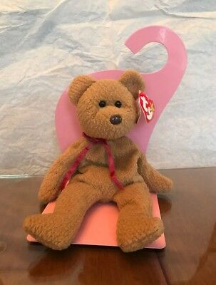 TY Beanie Baby - CURLY the Brown Nappy Bear (9 inch) - Stuffed Animal Toy ERROR