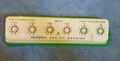 VINTAGE Sterling Dial-A-Matic Adding Machine Model 567 Made In USA