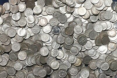 One Roll 90% Silver Roosevelt Dimes (50 Coins) 1960-1964   Lot J76