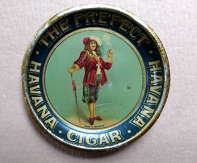 The Prefect Havana Cigar Antique Tin Tip Tray Germany early 1900s Litho