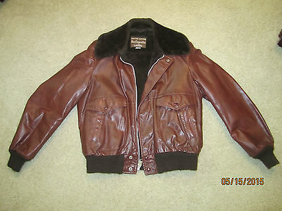 Vintage Bomber Style Jacket,Leather,by Grais,Size 40 Regular
