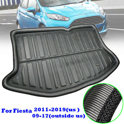 For Ford Fiesta Mk7 2008-17 Tailored Boot Tray Liner Trunk Cargo Mat Heavy Duty