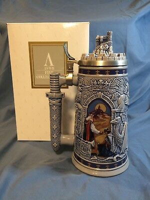"Vintage 1995 Avon Lidded Beer Stein ""Knights Of The Realm"" #3459"