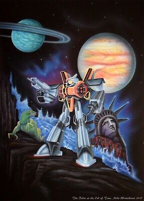The Robot At the End of Time giclee print by Mike Winterbauer