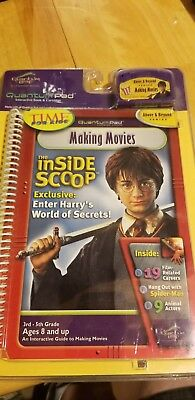 LEAP FROG QUANTUM LEAP PAD MAKING MOVIES INSIDE SCOOP BOOK CARTRIDGE NEW Potter
