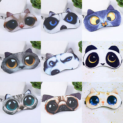 3D Cute Eye Mask Shade Cover Rest Sleep Eyepatch Blindfold Shield Sleeping Aid