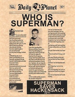 Daily Planet Who Is Superman? George Reeves > Man Of Steel > DC > Prop/Replica