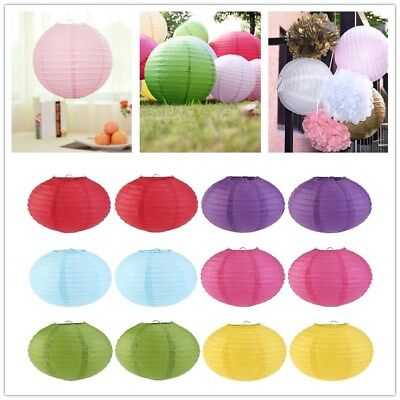 "6""8""10""12""14"" Chinese Round Paper Lanterns Lamp DIY Home Wedding Decoration 5PCS"