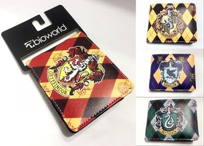 Harry Potter purse Gryffindor Hogwarts Slytherin Ravenclaw Hufflepuff PU Wallet